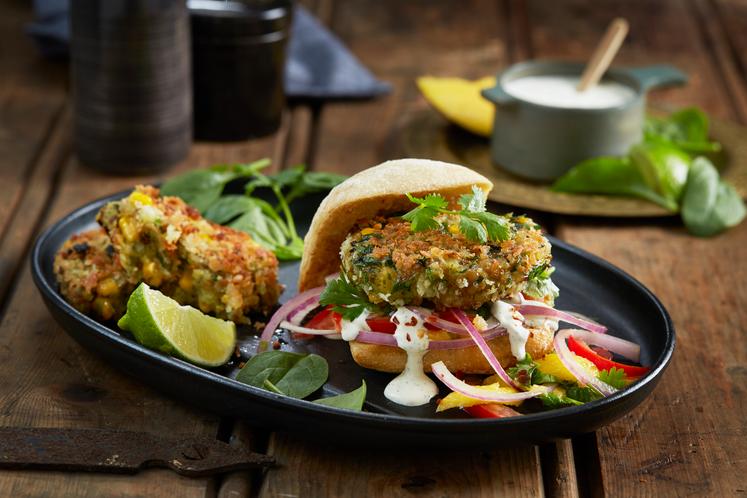 Indisk Vegetarburger – Allo Tikke